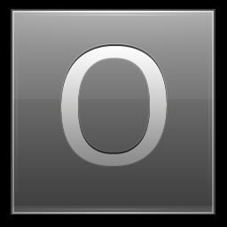Letter O grey icon