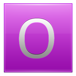 Letter O pink icon