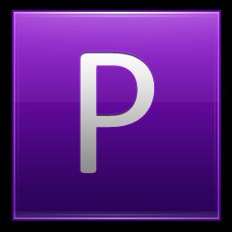 Letter P violet icon