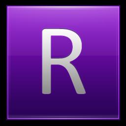 Letter R violet icon