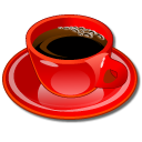 coffeecup red icon