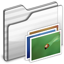 Wallpaper Folder white icon